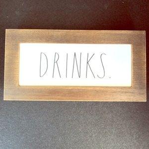 Rae Dunn Drinks sign